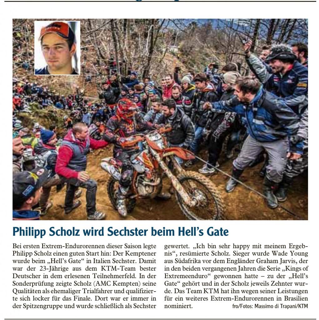 Allgäuer Zeitung vom 19.2.2016